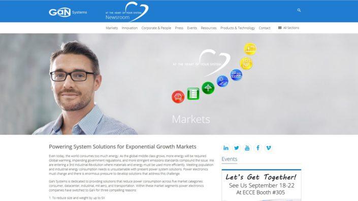 Gannewsroom.com Markets homepage